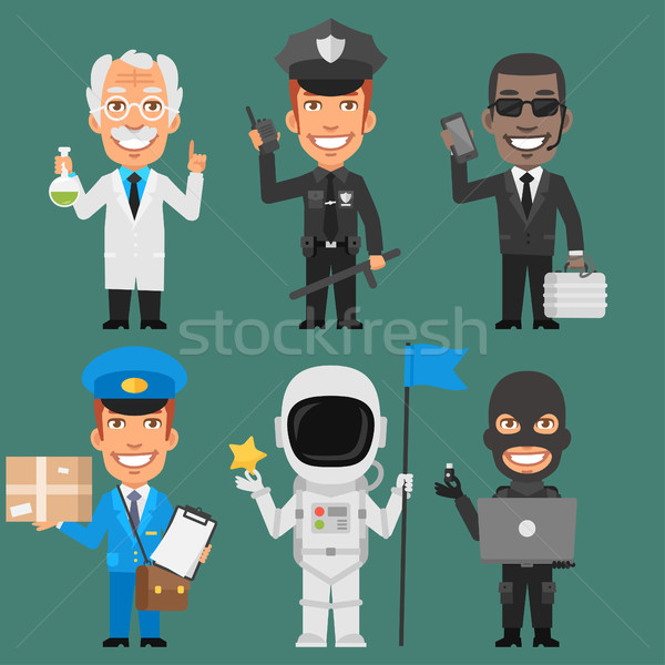 Characters Different Professions Part 8 Stock photo © yuriytsirkunov