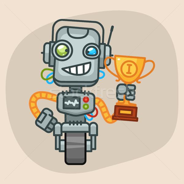 Robot Holding Cup Stock photo © yuriytsirkunov