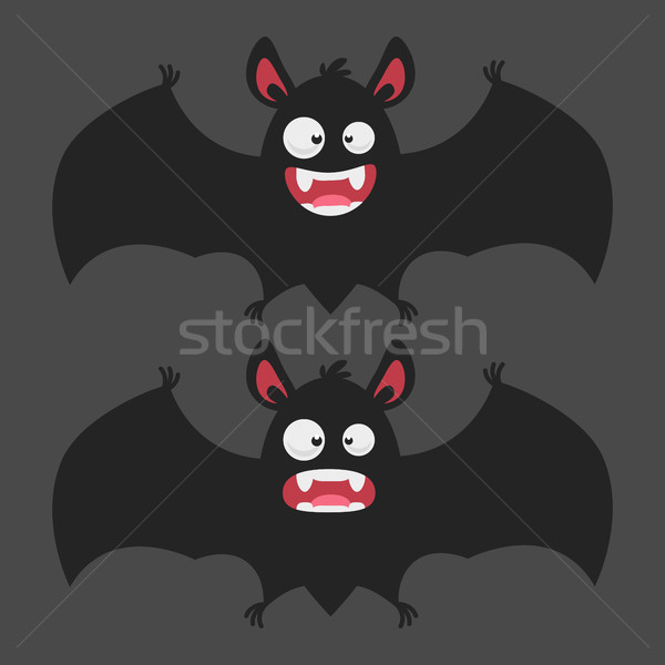 Cartoon Bat Smiles Frightened Stock photo © yuriytsirkunov