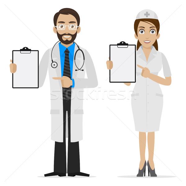 Orvos nővér űrlap illusztráció formátum eps Stock fotó © yuriytsirkunov