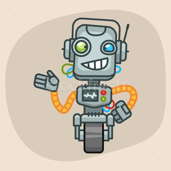 ロボット 笑顔 フォーマット eps 10 デザイン ストックフォト © yuriytsirkunov