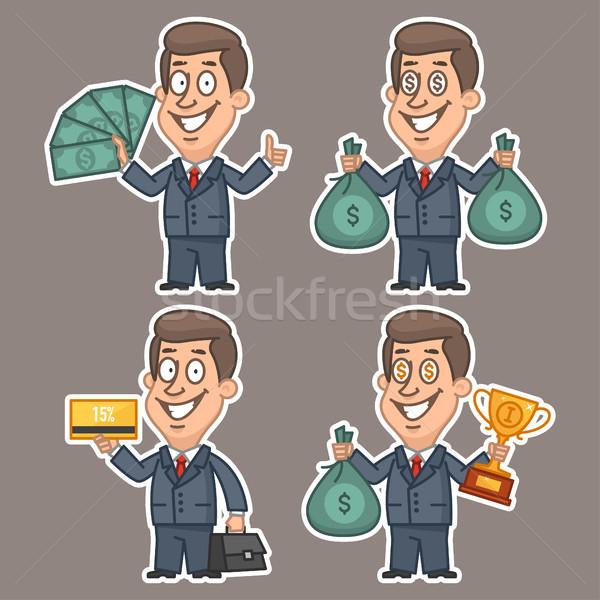楽しい ビジネスマン ステッカー セット 実例 フォーマット ストックフォト © yuriytsirkunov