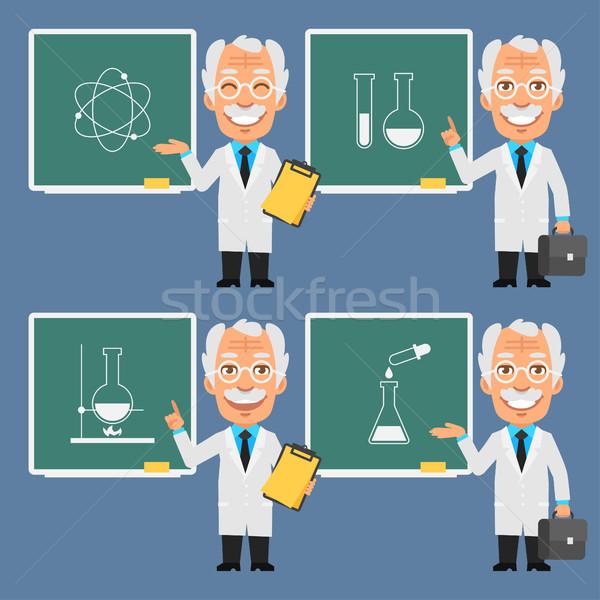 Alten Professor Punkte Tafel formatieren eps Stock foto © yuriytsirkunov