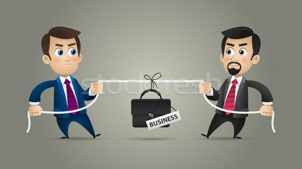 Empresários competição negócio ilustração formato eps Foto stock © yuriytsirkunov