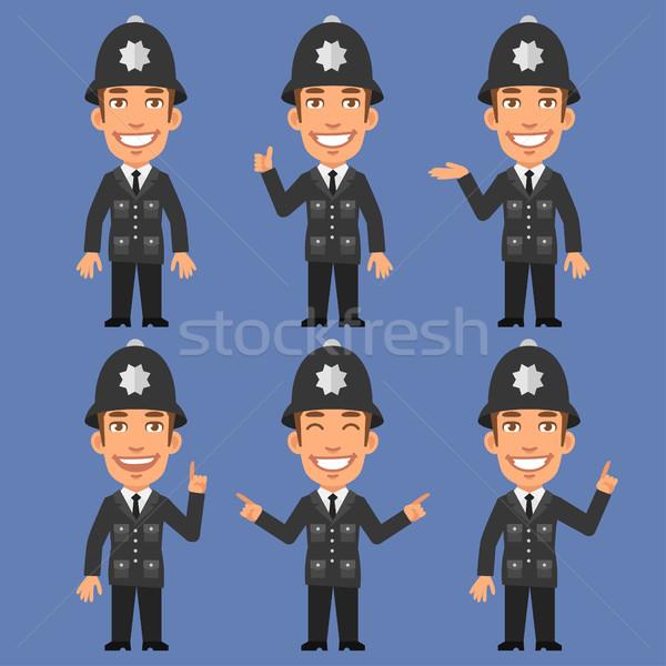 Angielski policjant format eps 10 uśmiech Zdjęcia stock © yuriytsirkunov