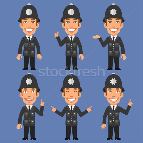 English Policeman Indicates and Shows Stock photo © yuriytsirkunov