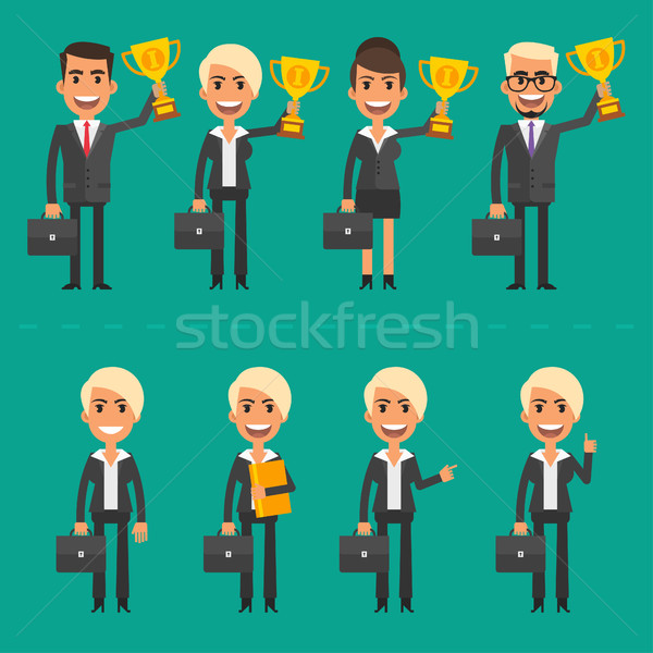 Businessman and businesswoman success Stock photo © yuriytsirkunov
