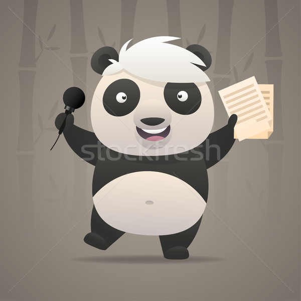 Panda illustration format eps 10 Photo stock © yuriytsirkunov
