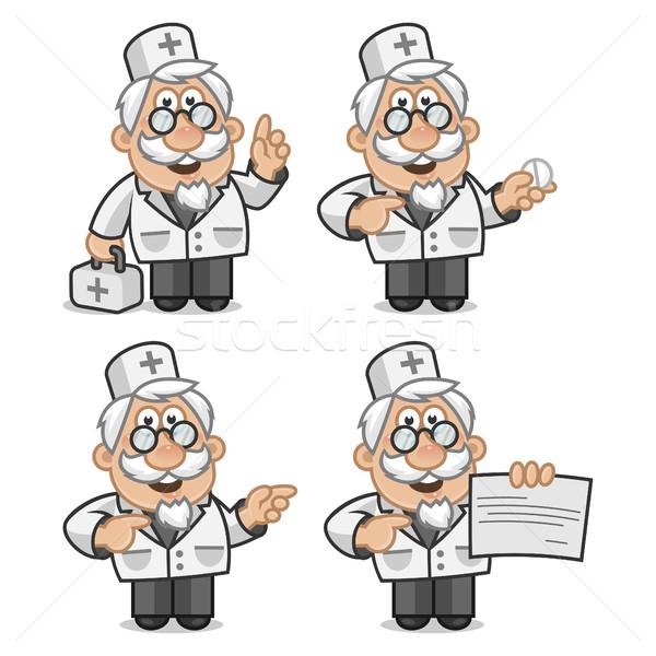 Doctor shows and tells Stock photo © yuriytsirkunov