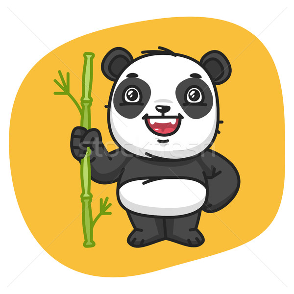 Panda Holds Stalk Bamboo Stock photo © yuriytsirkunov