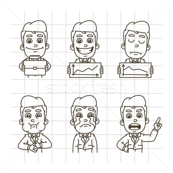 Businessman Sketch Doodle Part 4 Stock photo © yuriytsirkunov