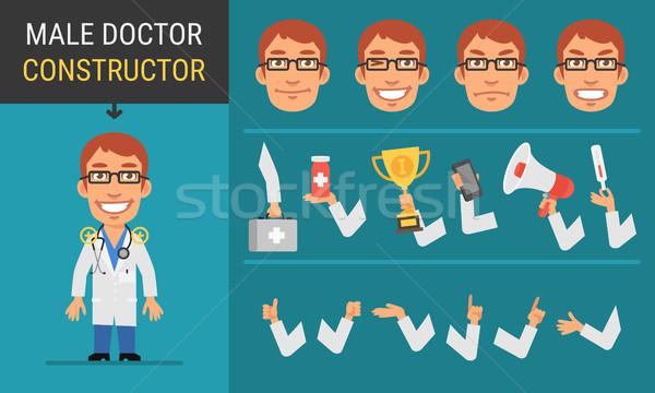 Constructor character male doctor Stock photo © yuriytsirkunov