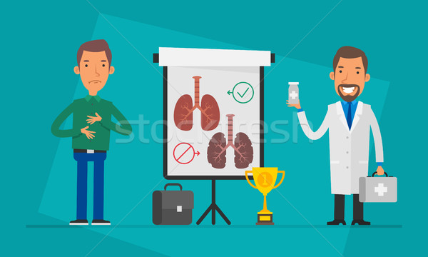 Concept Doctor Patient and Flip Chart Stock photo © yuriytsirkunov