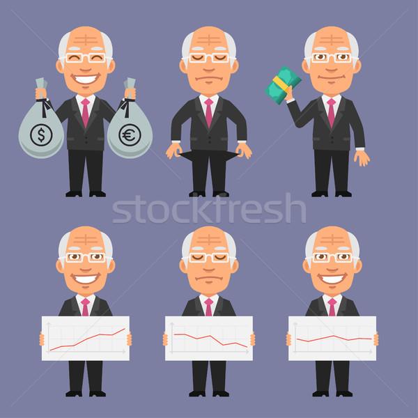 Oude zakenman geld graphics formaat eps Stockfoto © yuriytsirkunov
