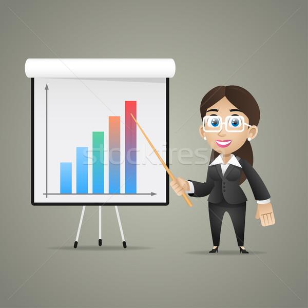 üzletasszony pontok flipchart illusztráció formátum eps Stock fotó © yuriytsirkunov
