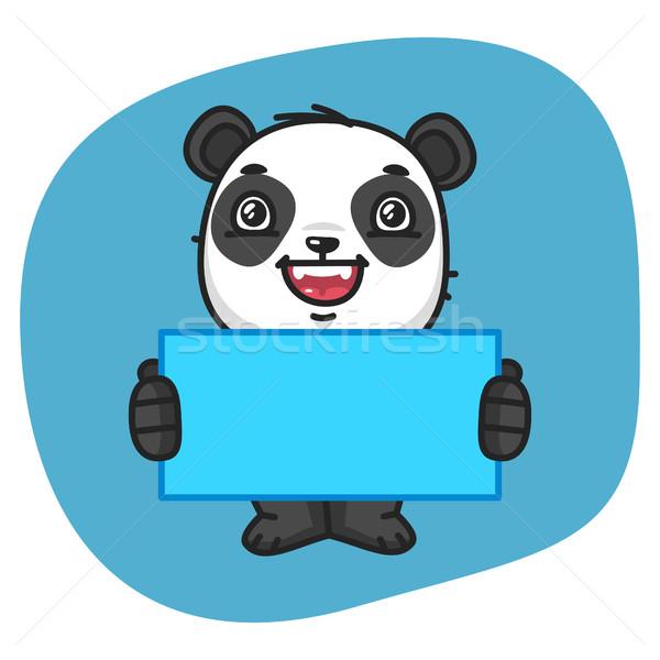 Panda hoja papel formato eps Foto stock © yuriytsirkunov