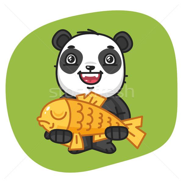Panda groot vis formaat eps 10 Stockfoto © yuriytsirkunov