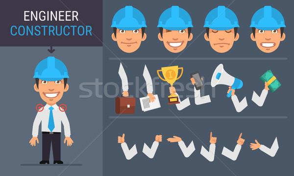 Constructor Character Engineer Stock photo © yuriytsirkunov