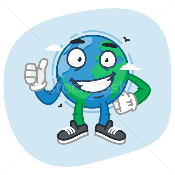 Character Earth Showing Thumbs Up Stock photo © yuriytsirkunov