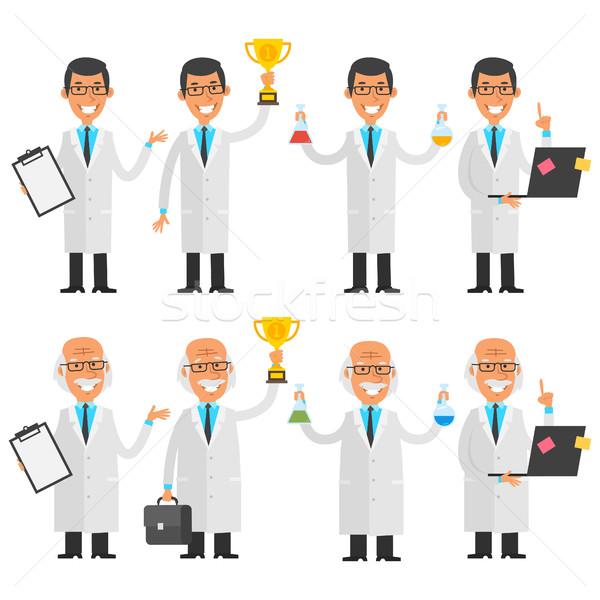 Scientists in different poses Stock photo © yuriytsirkunov