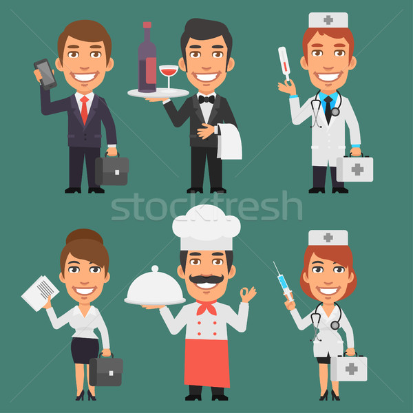 Characters Different Professions Part 5 Stock photo © yuriytsirkunov