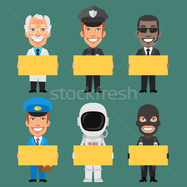 Characters Different Professions Part 9 Stock photo © yuriytsirkunov