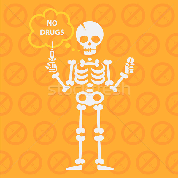 Concept on theme no drugs Stock photo © yuriytsirkunov