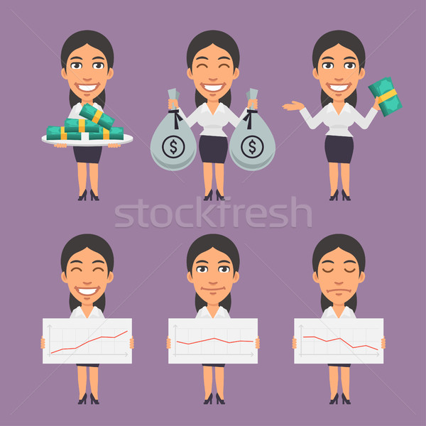 Businesswoman Holds Money and Paper Stock photo © yuriytsirkunov