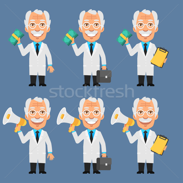 Old Professor Holds Money Megaphone Stock photo © yuriytsirkunov