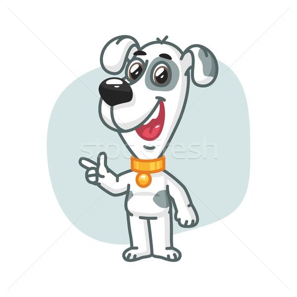 犬 点数 指 笑みを浮かべて フォーマット eps ストックフォト © yuriytsirkunov