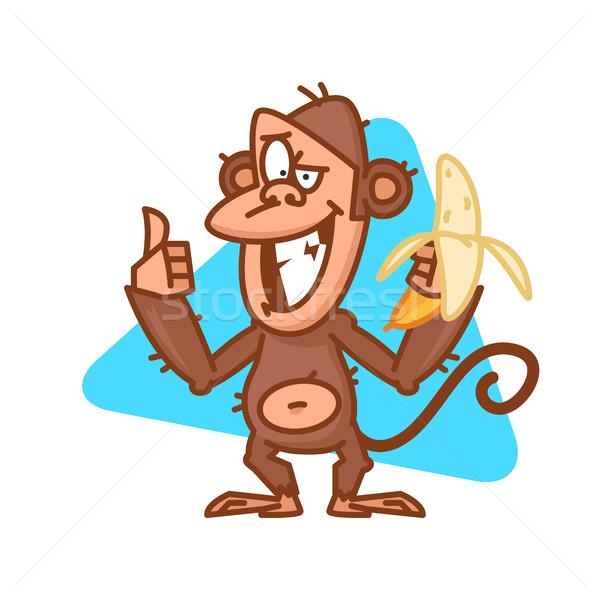 Maymun muz örnek format Stok fotoğraf © yuriytsirkunov