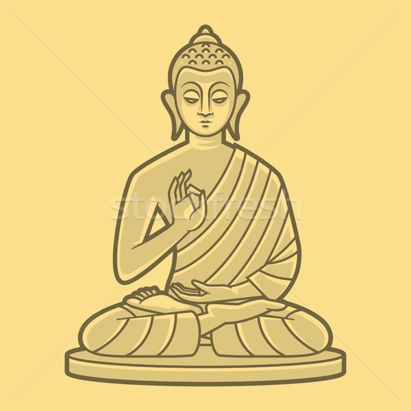 Dessin buddha illustration format eps 10 Photo stock © yuriytsirkunov
