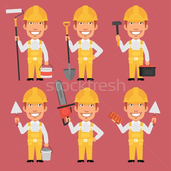 Construtor diferente ferramentas formato eps 10 Foto stock © yuriytsirkunov