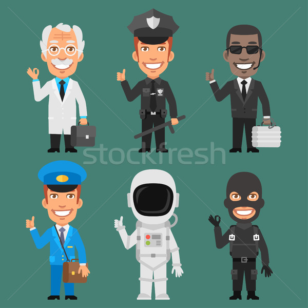 Characters Different Professions Part 7 Stock photo © yuriytsirkunov