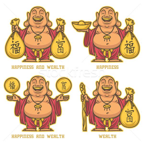 Buddha rijkdom geluk formaat eps 10 Stockfoto © yuriytsirkunov
