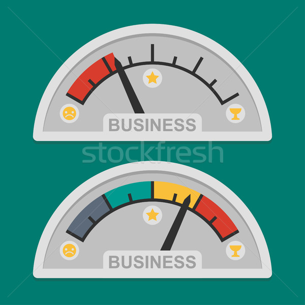 Indicateur de vitesse affaires développement illustration format eps Photo stock © yuriytsirkunov
