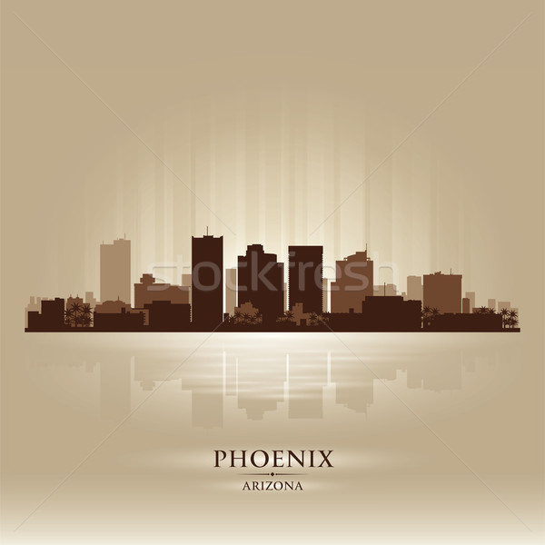 Phoenix, Arizona skyline city silhouette Stock photo © Yurkaimmortal
