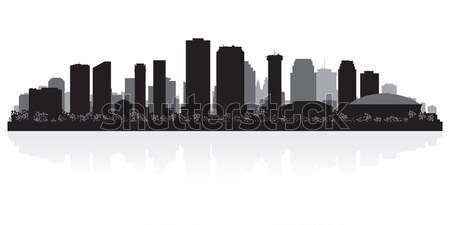 New Orleans city skyline silhouette Stock photo © Yurkaimmortal