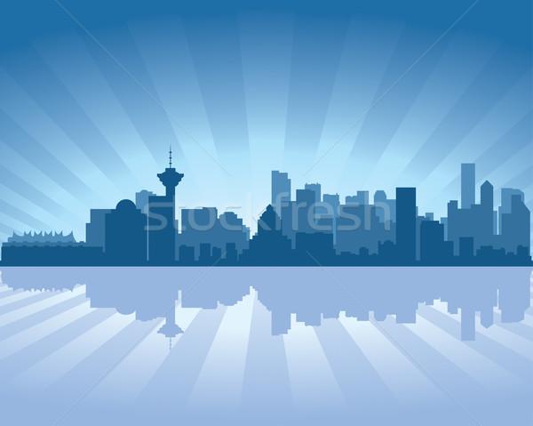 Vancouver linha do horizonte reflexão água céu edifício Foto stock © Yurkaimmortal