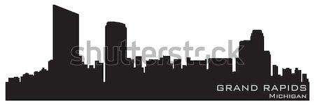 şehir New Jersey ufuk çizgisi ayrıntılı siluet Bina Stok fotoğraf © Yurkaimmortal