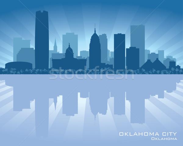 Foto stock: Oklahoma · silhueta · céu · edifício · cidade