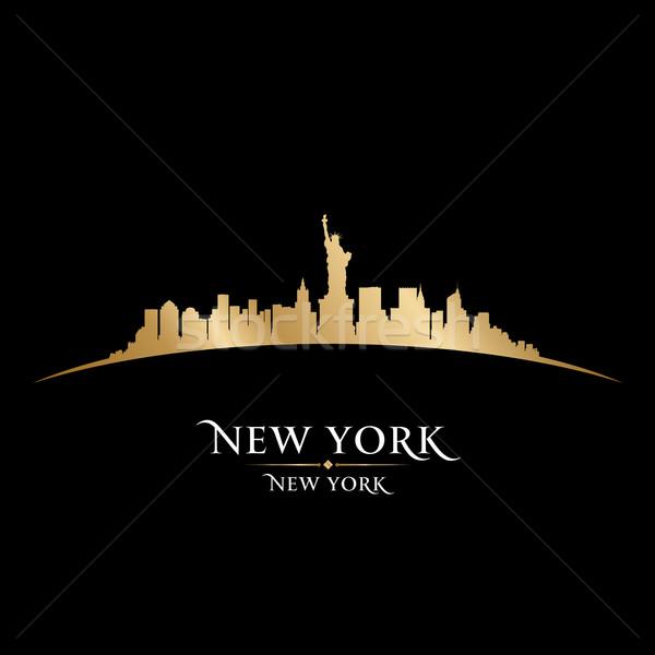 Nueva York horizonte silueta negro cielo edificio Foto stock © Yurkaimmortal