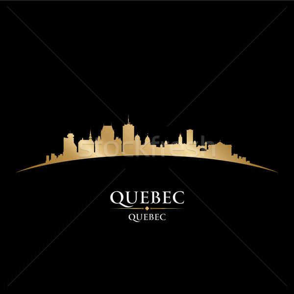 Quebec Canada silhouet zwarte gebouw Stockfoto © Yurkaimmortal
