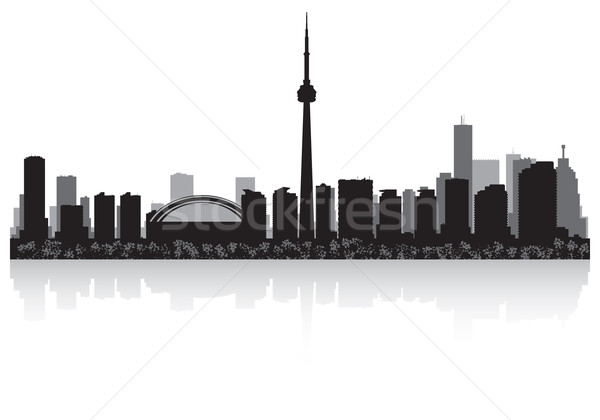 Toronto Canada vector silhouet business Stockfoto © Yurkaimmortal