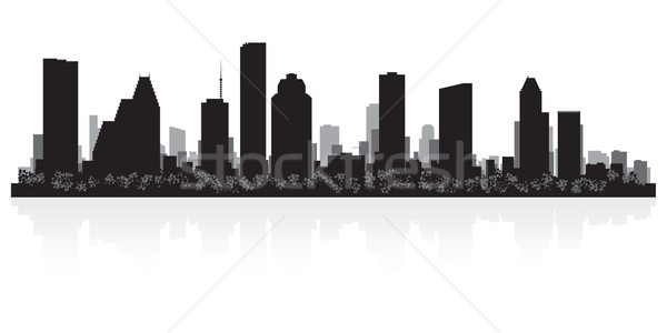 Houston silhouet USA business gebouw Stockfoto © Yurkaimmortal