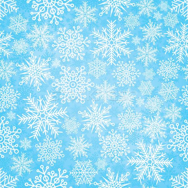 新しい 年 雪 ウィンドウ 冬 ストックフォト © Yurkaimmortal
