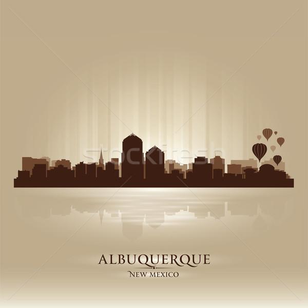 Albuquerque, New Mexico skyline city silhouette Stock photo © Yurkaimmortal