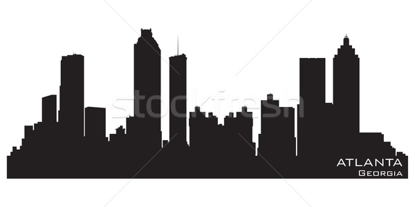 Atlanta Géorgie Skyline détaillée vecteur silhouette Photo stock © Yurkaimmortal