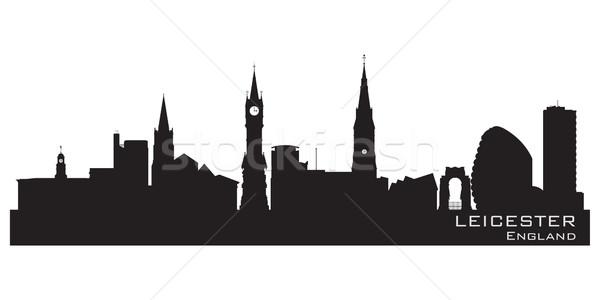 Inglaterra horizonte detallado silueta cielo edificio Foto stock © Yurkaimmortal