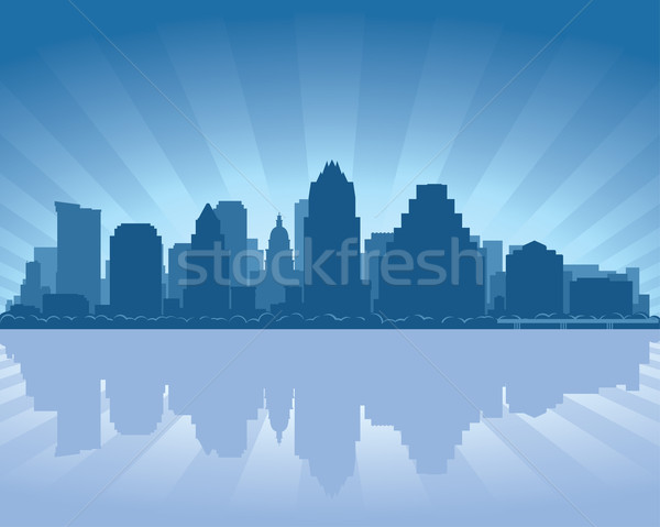 Austin Texas Skyline réflexion eau ciel Photo stock © Yurkaimmortal